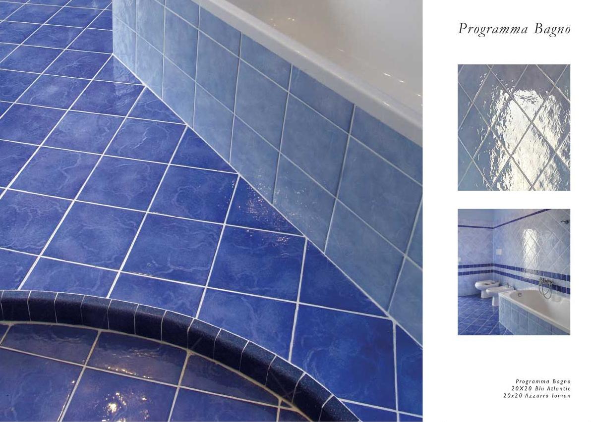 100+ [ Mattonella Piastrella 10x10 Ceramica Vietri ]  Piastrelle Bagno Azzurre Bagni In Resina ...